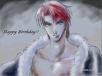 久々に描いたオスカー誕生日お祝いイラスト